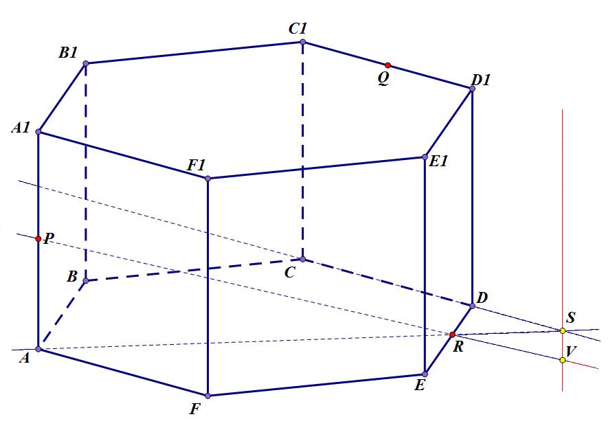 сечение шестиугольной призмы