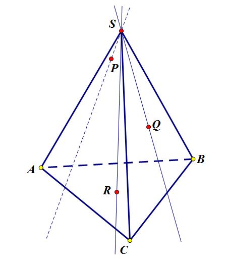 Построение сечения пирамиды