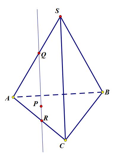 Построение сечения пирамиды.