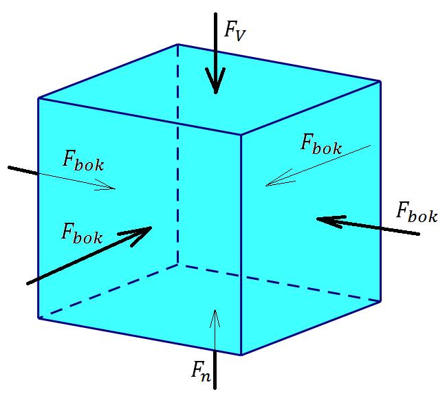 Архимеда Сила Архимеда Давление на грани кубика