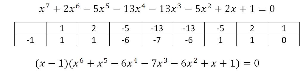 Возвратные уравнения